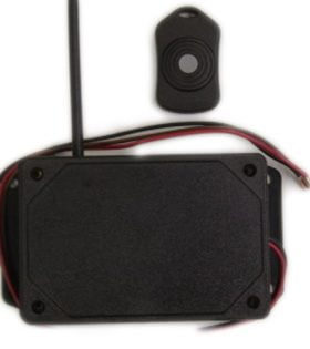 1DP0LOEFA - 1 Button Wireless Receiver & Transmitter Remote Controller Kit - DC Wireless Shutoff/On/Off - Momentary Function