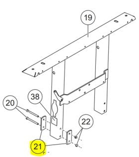 Western Plow Part #69714 - PLATE - UPPER LIFT FRAME
