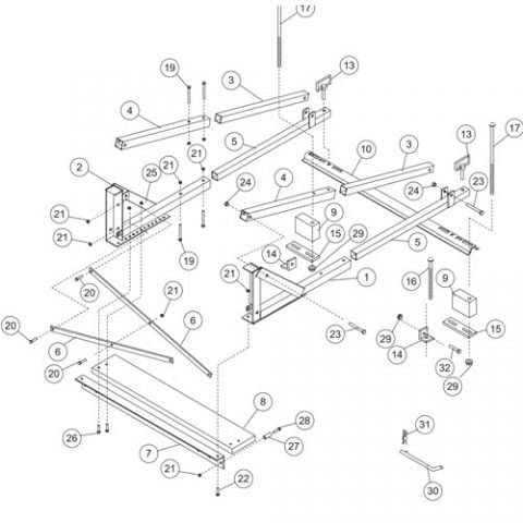 65530 In Bed Frame Assembly Parts
