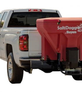 SaltDogg TGS07 Salt Spreader with Wireless Red Hopper