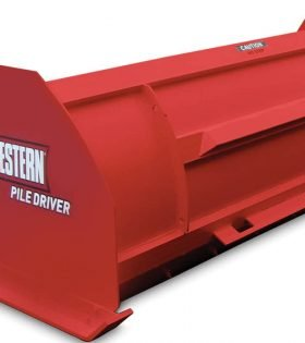 Western Pile Driver Snow Plow Pusher Skid Steer Plow Loader Box Plow