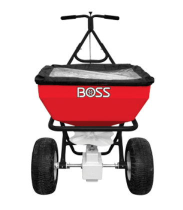 Boss Walk Behind Broadcast Salt Spreader, boss walk behind spreader, boss broadcast spreader, walk behind spreader prices, walk behind spreader review