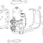 wide-out hydraulic unit cover assembly