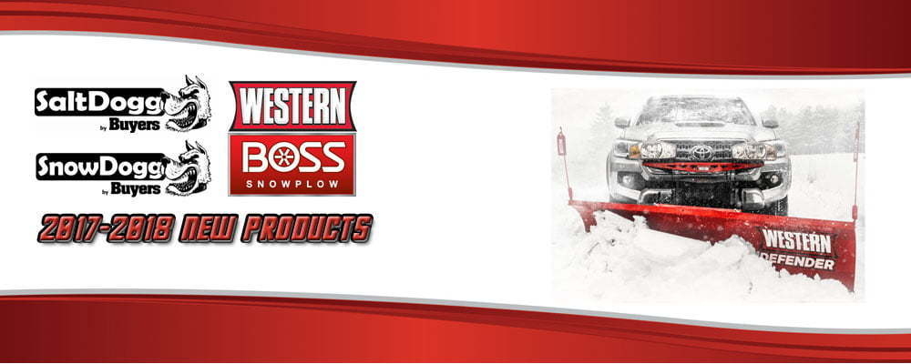 New Snow and Ice Management Products 2017 2018 SnowDogg SaltDogg Boss Western
