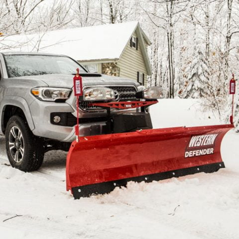 western defender compact snow plow personal plow for small