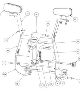 TE Lift Frame Plow Parts