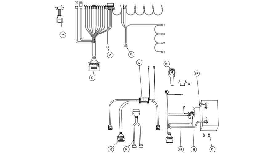vxf electrical harness parts