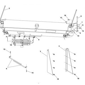 Western UTS Mounting Kit Parts