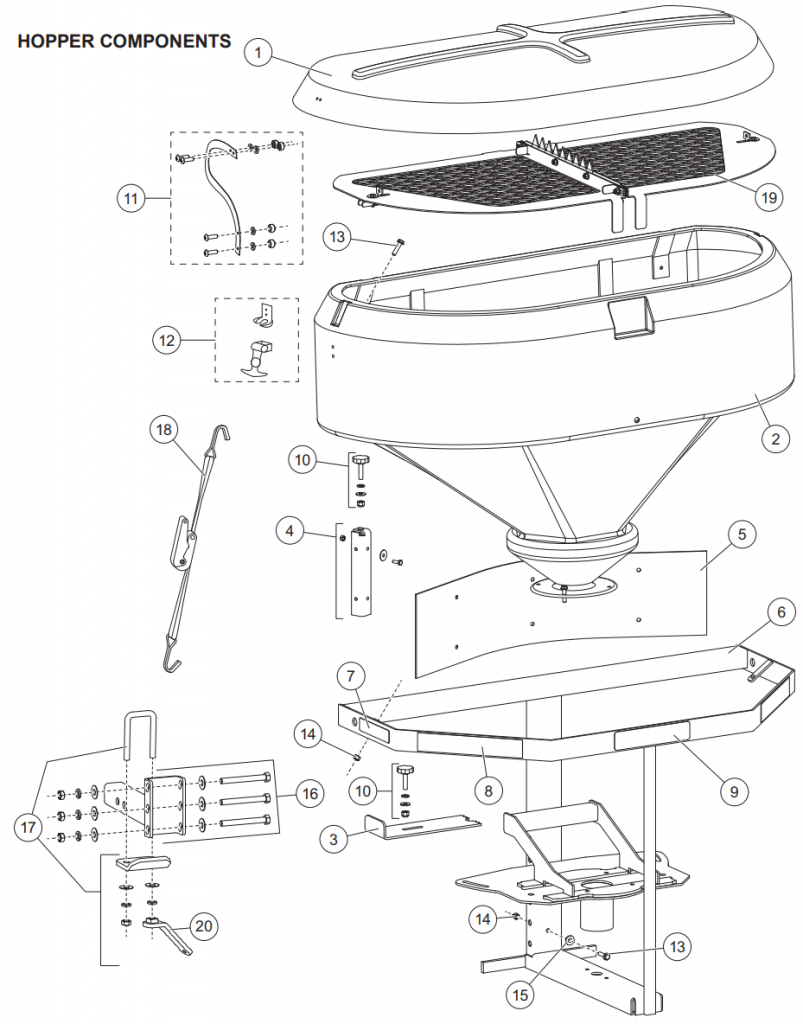 hopper 2500 803x1024 western 2500 spreader hopper assembly parts snowplowsplus western 1000 salt spreader wiring diagram at gsmx.co