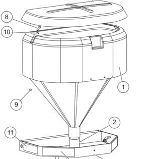 Western 500 Hopper Assembly Parts