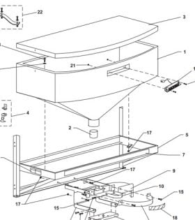 western 1000 spreader hopper assembly parts