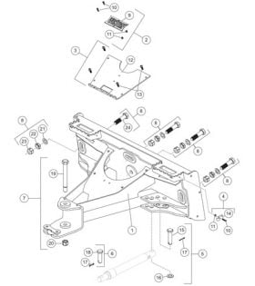 Skid-Steer Prodigy Plow A-Frame Parts