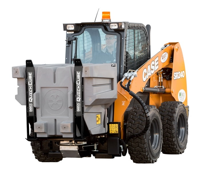 Boss Quick Cube Skid-Steer Hopper Spreader
