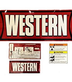 Western Plow Decals