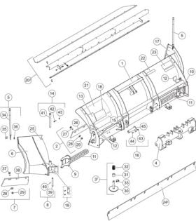 Skid-Steer Prodigy Plow Blade Assembly Parts