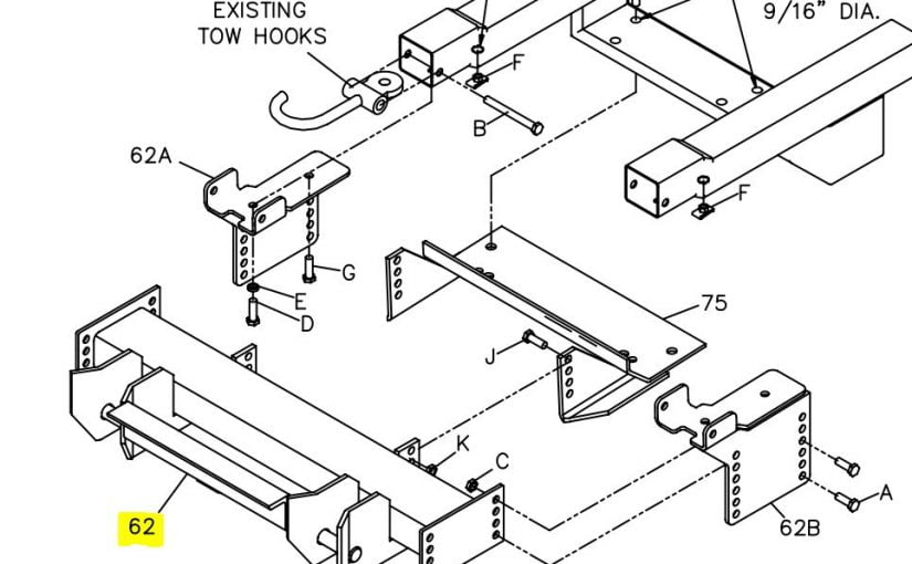 boss plow mounts for chevy gmc snowplowsplus part 7 RT2 Boss Smart Hitch Wiring Schematic boss part pba04169 03 rtii mount push beam assembly 1999 02 chevy gmc 1 2 3 4 ton