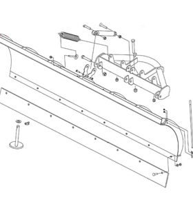 Boss Straight Blade Plow Blade Assembly