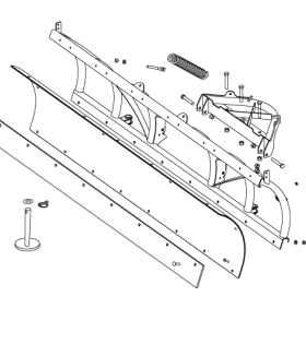 Boss HTX Plow Blade Assembly Parts