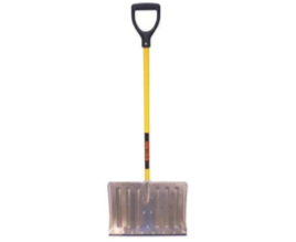 Structron Yellow Fiberglass Handle Snow Shovel