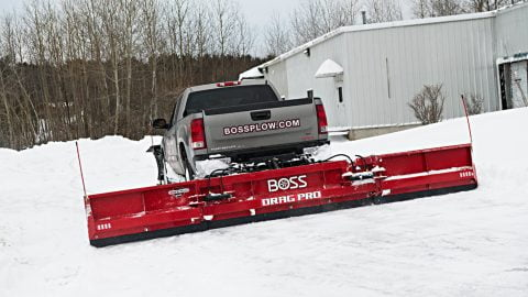 boss drag pro plow rear mounted back drag plow snowplowsplus