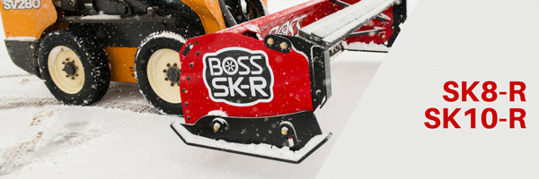 Boss SKR Rubber Skid Steer Box Plow