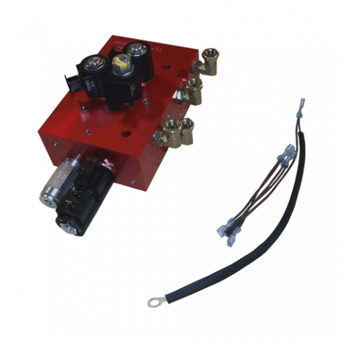 Boss Part # HYD07091 - Valve Assembly RT3 Straight Blade SmartHitch2 w/Ground 07 (Red Block)