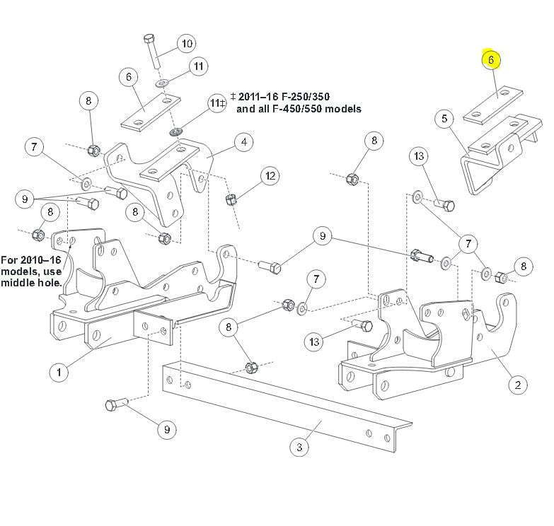 Western Snow Plow Mount 67982