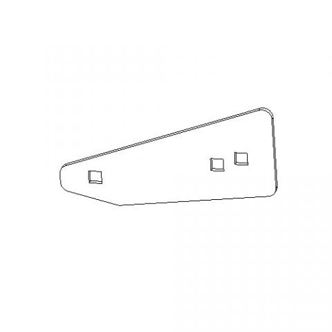 Boss Part # BAX08031-03 - Wing Extension Mounting Plate