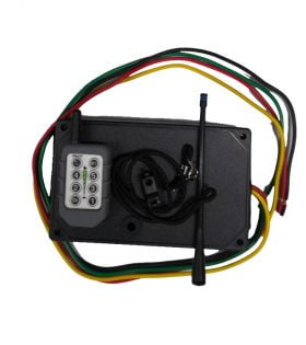 Single DC Electric Salt Spreader Wireless Controls