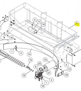 SnowEx Part # F50482 - SD-600 and SP-1675 Main Frame Assembly